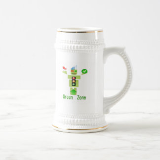 GREEN Zone :  Perfect Steins a class apart 18 Oz Beer Stein