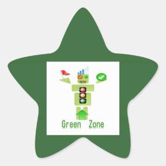 GREEN Zone Star Sticker