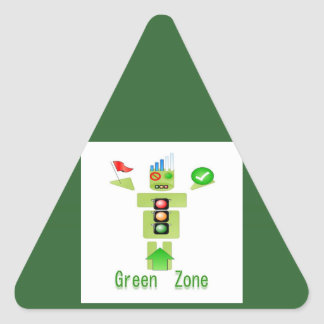 GREEN Zone Triangle Sticker