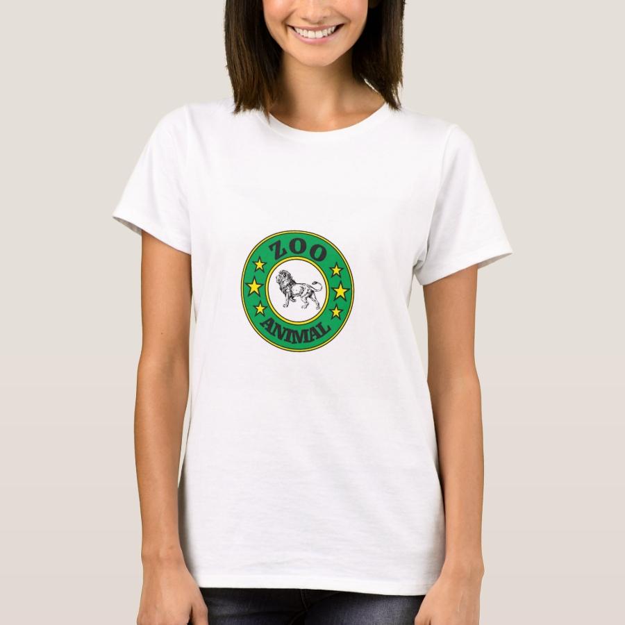 green zoo tag lion T-Shirt - Best Selling Long-Sleeve Street Fashion Shirt Designs