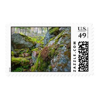 Greenary en las montañas sello postal