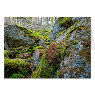 Greenary en las montañas tarjeta de felicitación