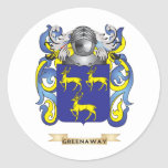 Greenaway Coat of Arms (Family Crest) Round Sticker