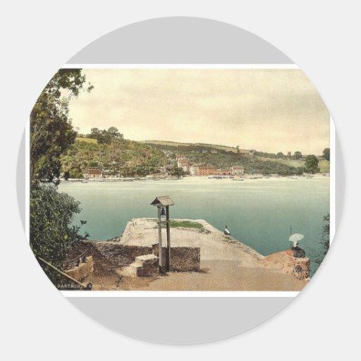 Greenaway Ferry, Dartmouth, England classic Photoc Sticker