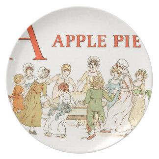 Greenaway, Kate (1846-1901) - A Apple Pie 1886 - A Plate