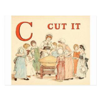 Greenaway, Kate Alphabet letter C Postcard