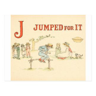 Greenaway, Kate Alphabet Nursery Rhyme - J Postcard