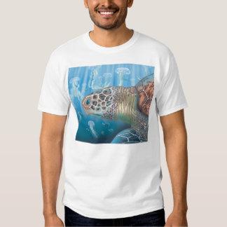 Greenback turtle and jellyfish T-Shirt