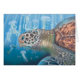 Greenback turtle greeting card