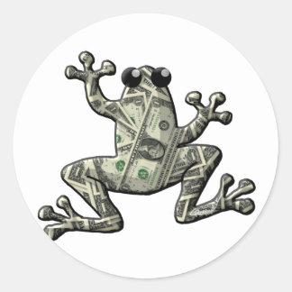 Greenbacks Frogs Classic Round Sticker