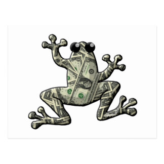 Greenbacks Frogs Postcard