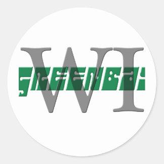greenbay wi classic round sticker