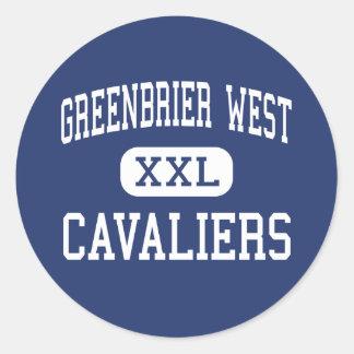 Greenbrier West - Cavaliers - Senior - Charmco Round Sticker