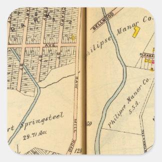 Greenburg, Nueva York 13 Pegatina Cuadrada