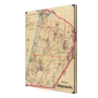 Greenburg, Nueva York Impresión En Lona Estirada