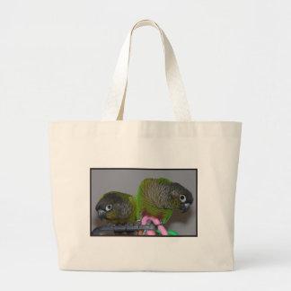 Greencheek adorable Conures Bolsa Tela Grande