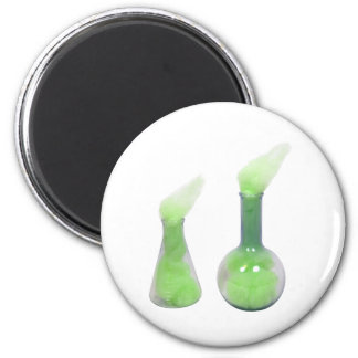 GreenCloudyBeakers1031-0 copy 2 Inch Round Magnet