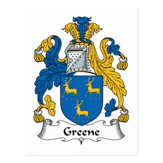 Greene Family Crest Postcard