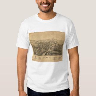 Greene NY Panoramic Map T-Shirt