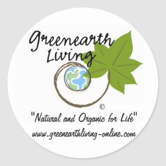 Greenearth Living Logo Products Classic Round Sticker