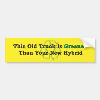 Greener Bumper Sticker