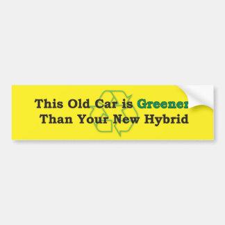 Greener-Car Bumper Sticker