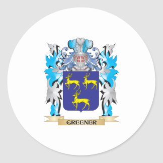 Greener Coat of Arms - Family Crest Stickers
