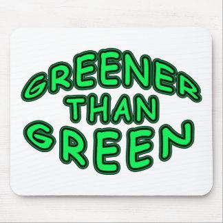 GREENER THAN GREEN FUN LOGO MOUSE PAD