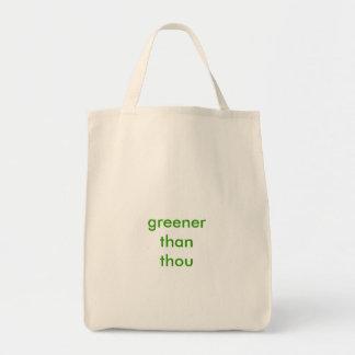"""Greener Than Thou"" Grocery Tote"