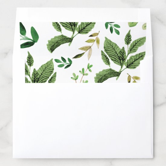 Greenery and Leaves Envelope Liner