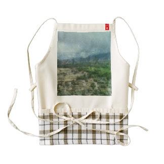 Greenery and sand co-existing zazzle HEART apron