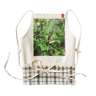 Greenery at a plantation zazzle HEART apron
