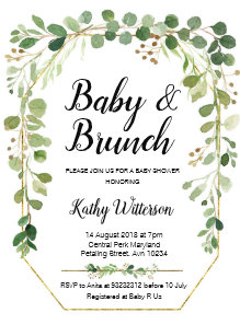 brunch baby shower invitations zazzle