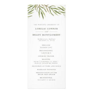 Greenery | Botanical Double Sided Wedding Program