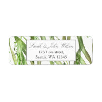 Greenery Botanical Wedding address label