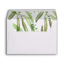 Greenery Botanical Wedding Envelope