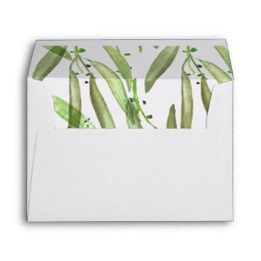 Greenery Botanical Wedding Envelope