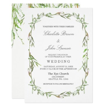 Greenery Botanical Wedding Invitations