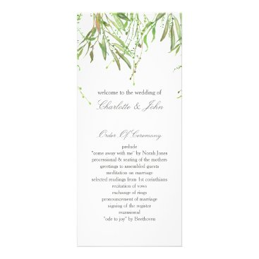 Greenery Botanical Wedding Programs