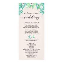Greenery Botanical Wreath & Flower Wedding Program