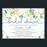 "Greenery Bridal Shower Invitation w Ivory Accents<br><div class=""desc"">Super cute watercolor styled bridal shower invitations with beautiful ivory and greenery elements.</div>"