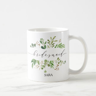 Greenery Bridesmaid Personalized-11 Coffee Mug