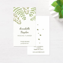 greenery business cards