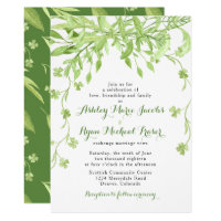 Greenery Clover Floral Wedding Invitation