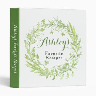 Greenery Clover Floral Wreath Recipe Binder