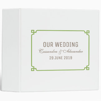 Greenery Deco Chic Wedding Binder