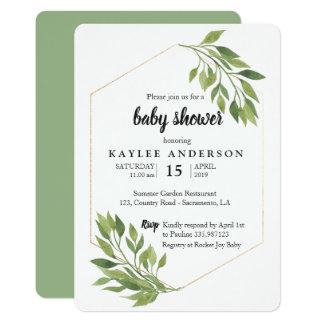 Invitations - BGreenery elegant Baby shower invitation
