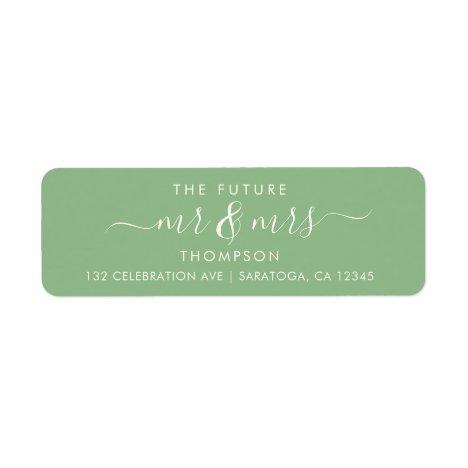 Greenery Elegant Green Future MR and MRS Address Label