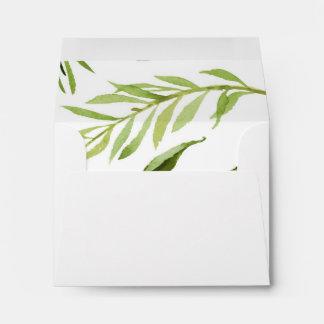 Greenery Envelope, RSVP, Thank You, Envelope