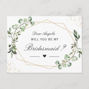 Be my Bridesmaid A5 Postcard Qty: 3
